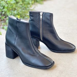 Intentionally Blank Hinge 2 Black Leather Booties